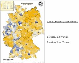 Bruttoinlandsprodukt (BIP) auf Ebene der Stadt/Landkreise
