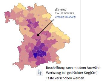 RegioGraph 2015 Landkarten-Beschriftung