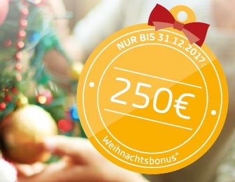 Weihnachtsaktion: Jetzt 250 EURO sichern!