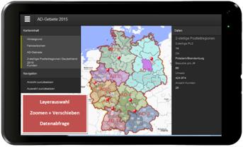 Webapplikation erstellt mit RegioGraph Strategie